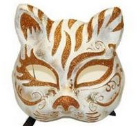 Mardi Gras face mask the cat