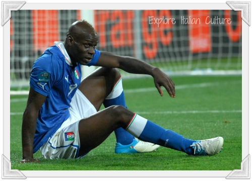 Mario Balotelli, one of the Italian national soccer team stars.