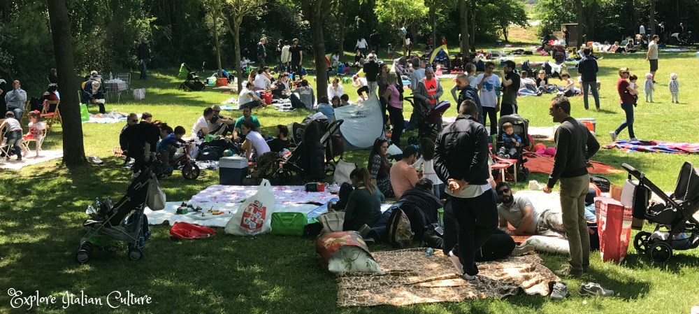 May day picnic with friends and family.