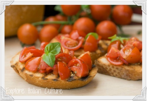 Bruschetta can easily form part of a Mediterranean style diet