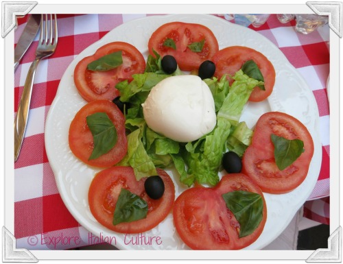 A delicious Capreses salad is part of any Italian healthy eating plan