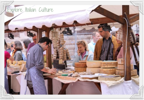 Italian markets cheese stall