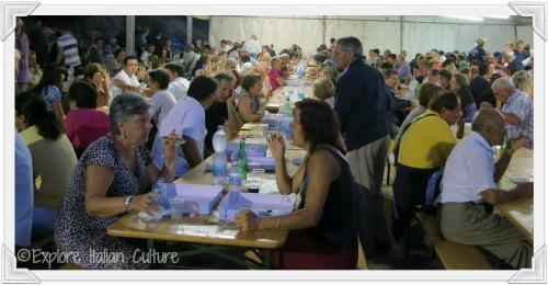 Mediterranean style diet communal eating