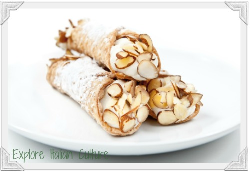 Cannoli : a favourite Mediterranean food
