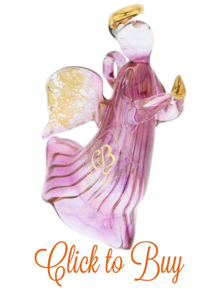 Glass angel ornament.