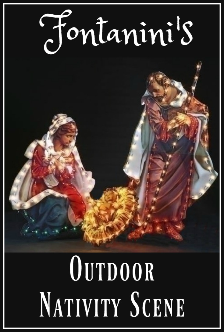 Outdoor nativity set.