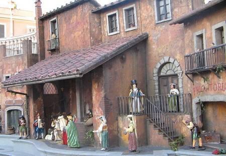 Outdoor nativity scenes in Rome
