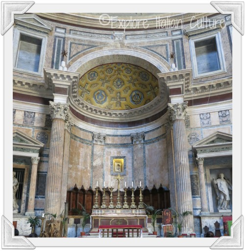 The beautiful high altar in the Pantheon