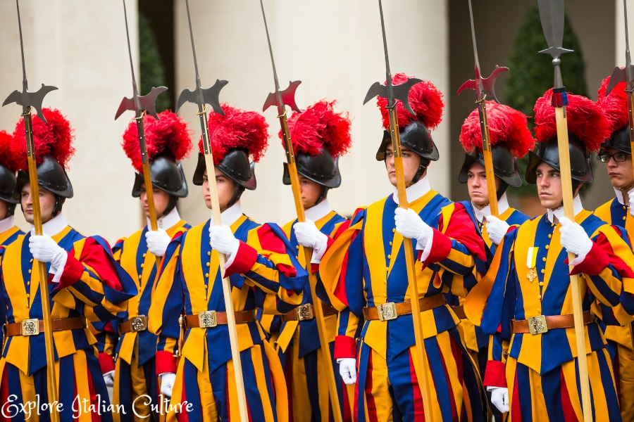 The Swiss Guard on a ceremonial display.
