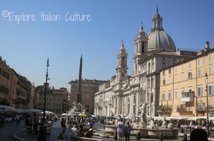 The Piazza Navona, Rome, Italy.