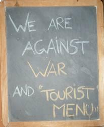 Trastevere restaurant board