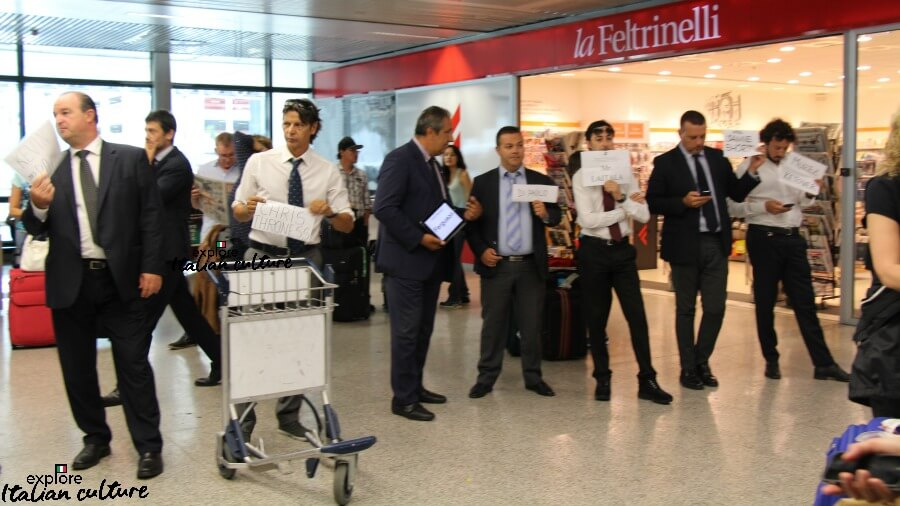 Drivers at Fiumicino airport.