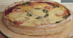 Pizza Margherita made with Panasonic bread machine