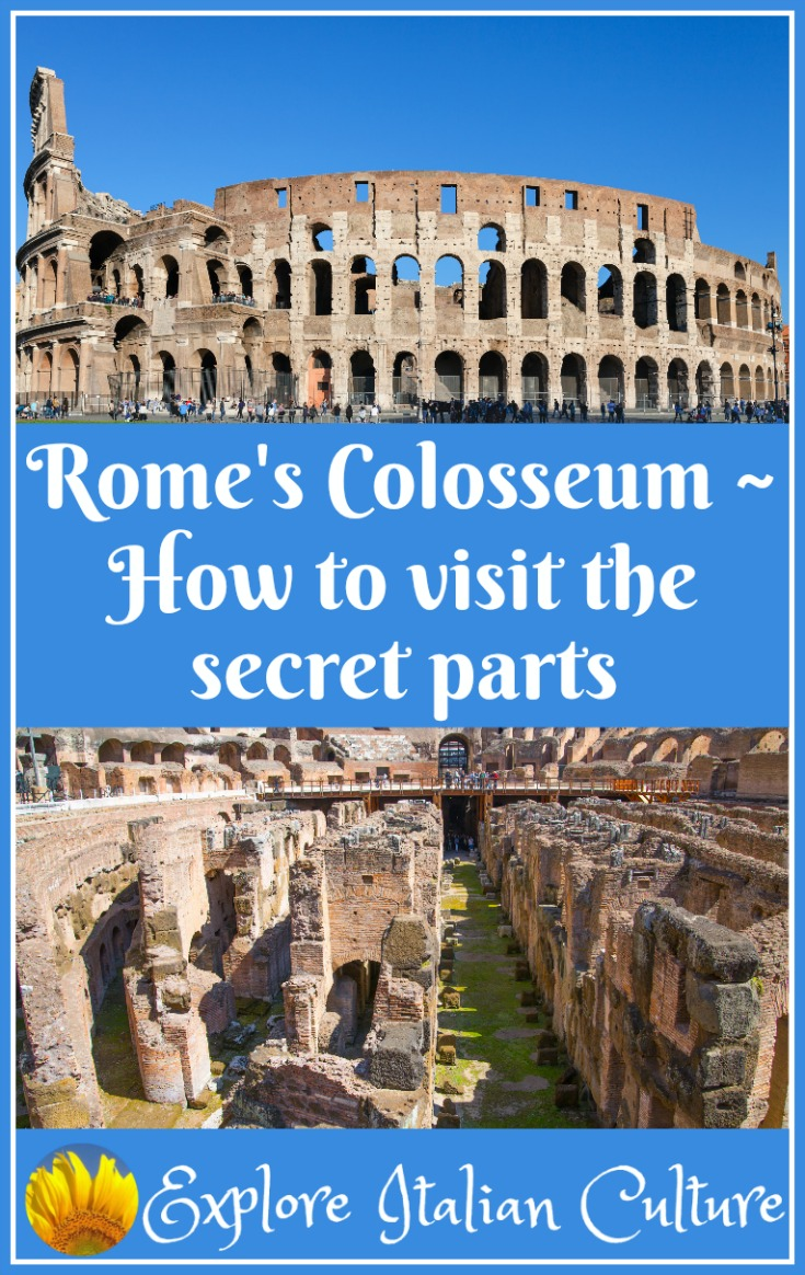 The Colosseum: visit the underground chambers and see what gladiators saw moments before entering the arena!