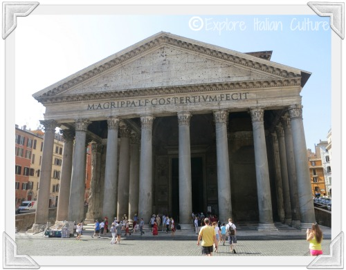 The outside of the Pantheon in Rome - quite a plain building