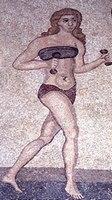 Woman athlete mosaic