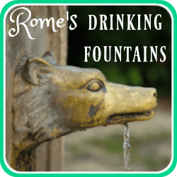 Rome's drinking fountains - link.