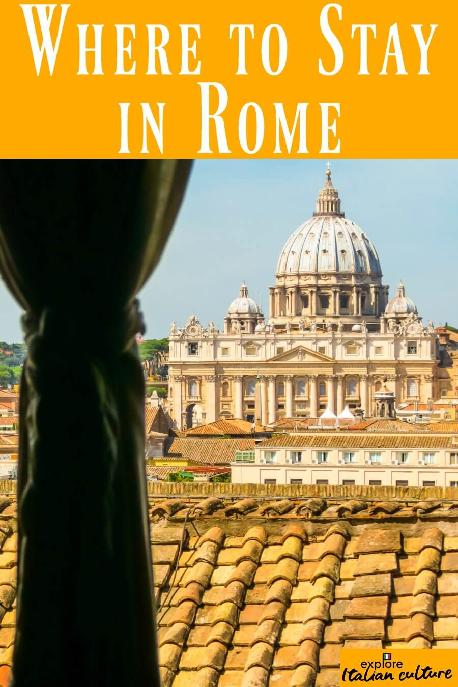 Where to stay in Rome: pin for later.
