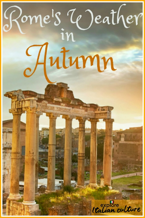 Pin for later: Rome's weather in the Fall.