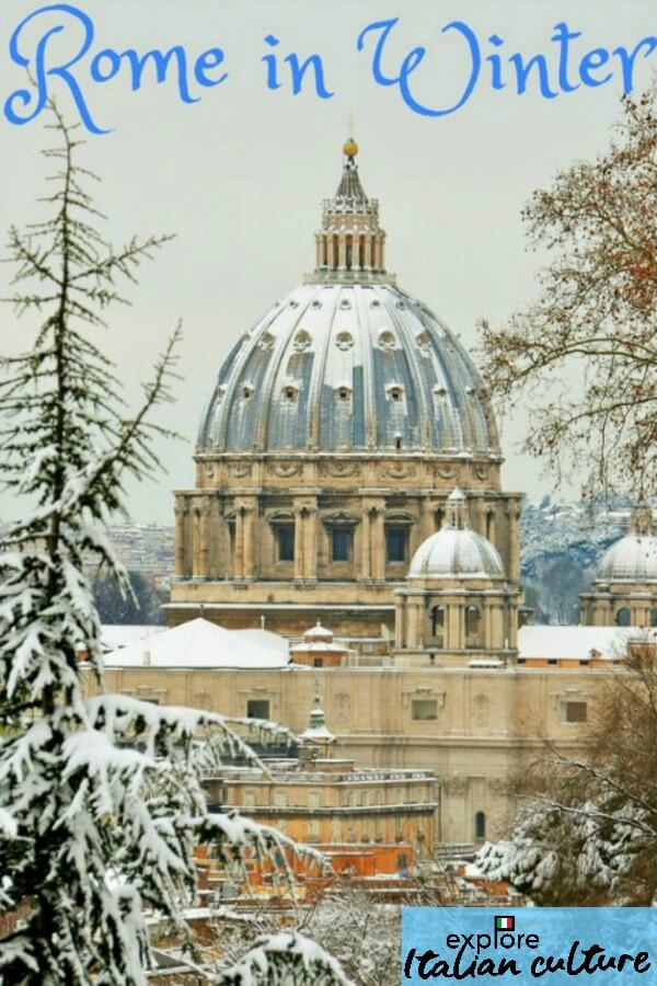Rome's climate in winter.