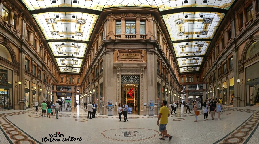 The Galleria Alberto Sordi shopping mall, Rome.