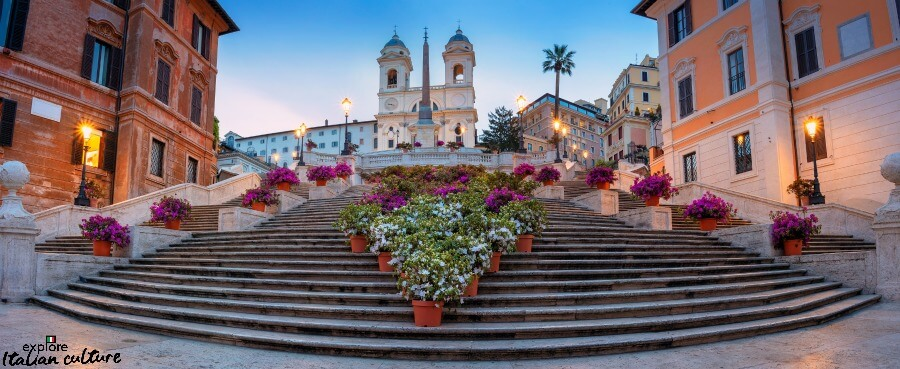 the Spanish Steps, Rome, at sunrise.