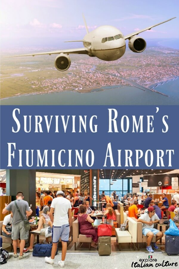 Surviving Rome's Fiumicino airport: here's how. Pin for later.