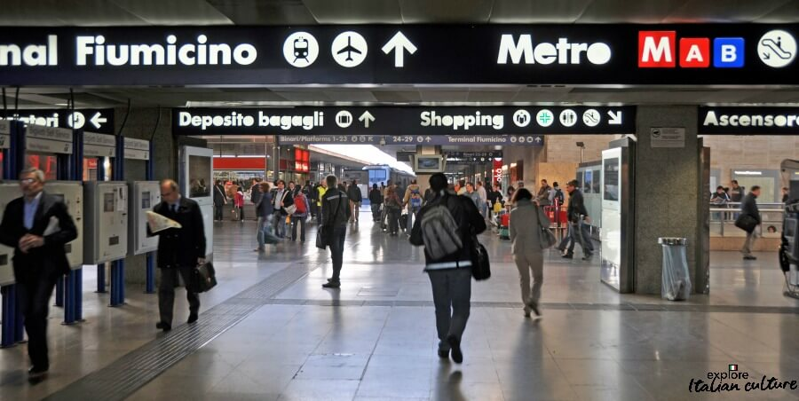 Termini station - follow the signs to the platform for the Leonardo Express.