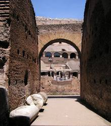 The Roman Colosseum underground tunnels