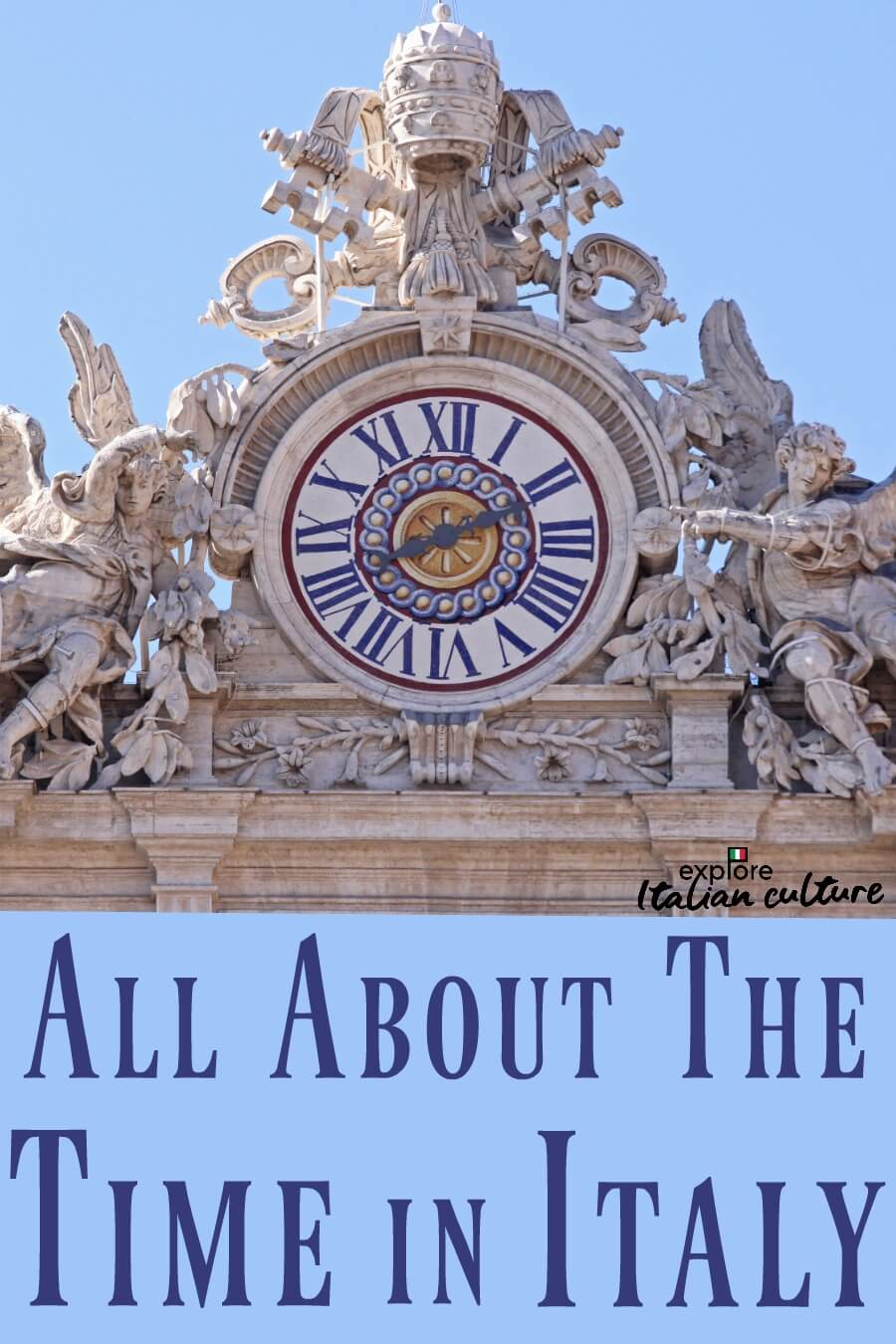 All you need to know about the time in Italy - pin for later.