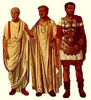 Roman Fashion on Ancient Roman Fashion   Left To Right   The Distinctive Dress Of
