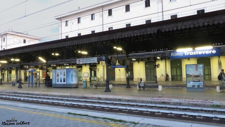 Trastevere railway station, Rome, Italy.