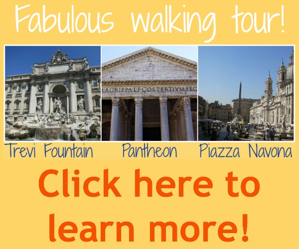 Experience a guided walk to three of Rome's most amazing sights!