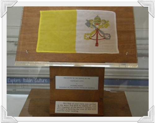 This Vatican flag was taken to the moon