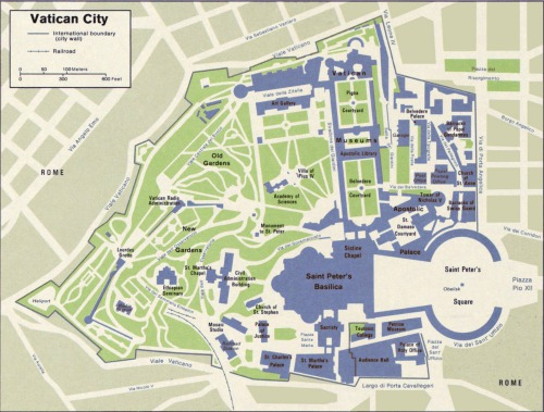 A small map of the Vatican City
