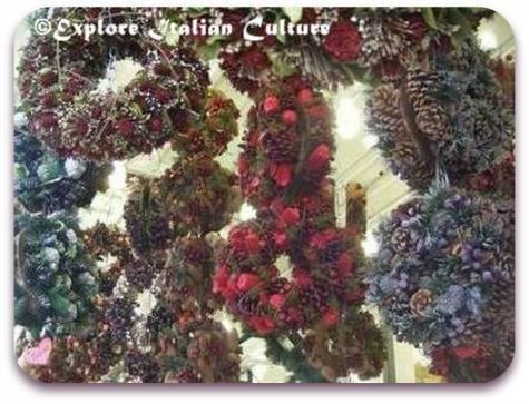 Winter wreaths in Piazza Navona