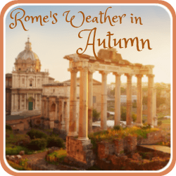 Rome's weather in autumn - link.