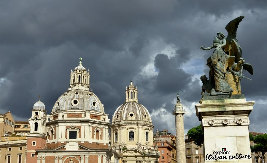 Rome under autumn storm clouds.