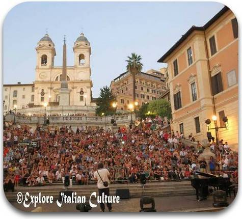 Opera at the Spanish Steps in summer