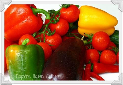 Mediterranean diet fresh veg