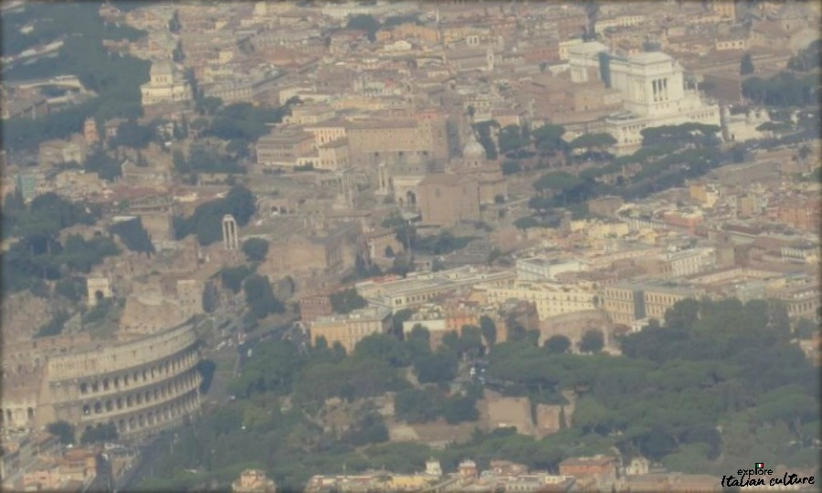 Coming in to land at Rome's Ciampino airport.