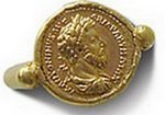 Ancient Roman coin ring, 2C AD