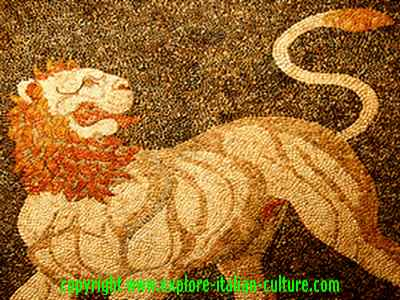 Ancient lion mosaic