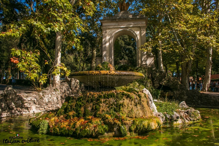 The Borghese Park in Fall