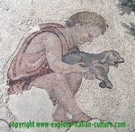 Ancient Roman pet mosaic