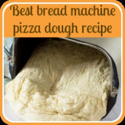 Bread machine pizza dough recipe - link.