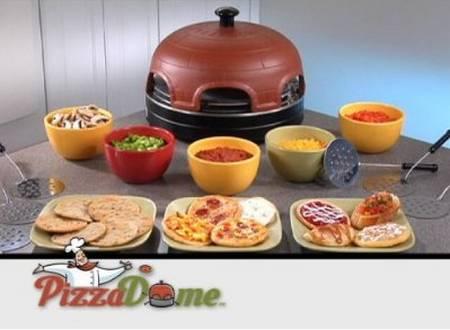 Fondue pizza oven