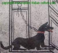 cave canem mosaic Pompeii