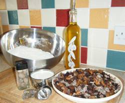 Christmas pizza ingredients