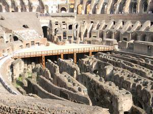 Colosseum in Rome lower level